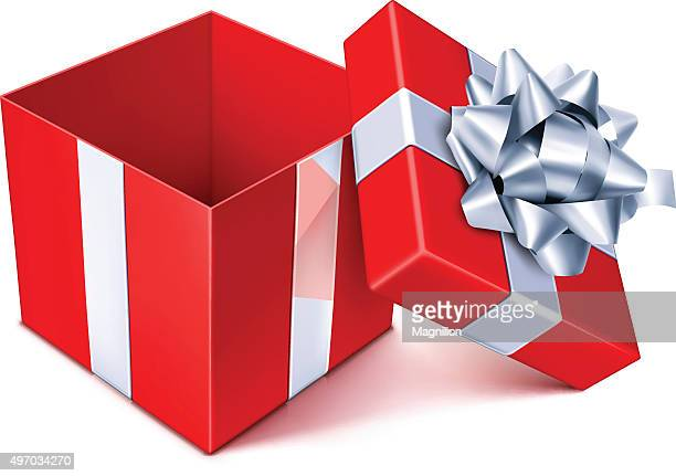 open gift box - open stock illustrations