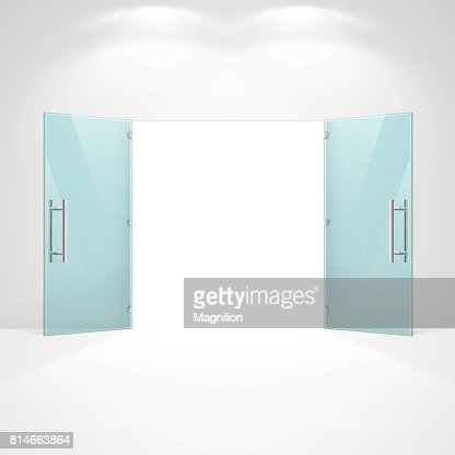 Open glass doors vector art getty images planetlyrics Image collections