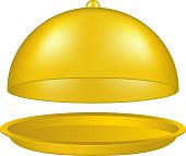 Open golden cloche