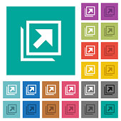 Open in new window square flat multi colored icons