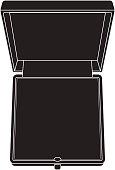 Open Jewelry gift box.   isolated on white background. Illustrat