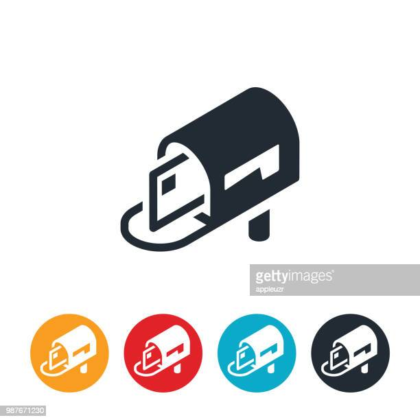 open mailbox icon - mailbox stock illustrations