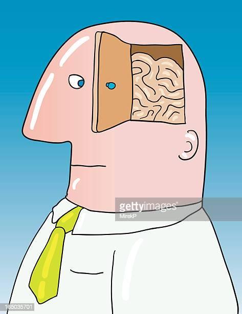 open minded - neurosurgery stock illustrations, clip art, cartoons, & icons