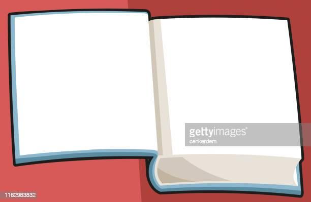 ilustrações, clipart, desenhos animados e ícones de abra o caderno - livro de exercícios