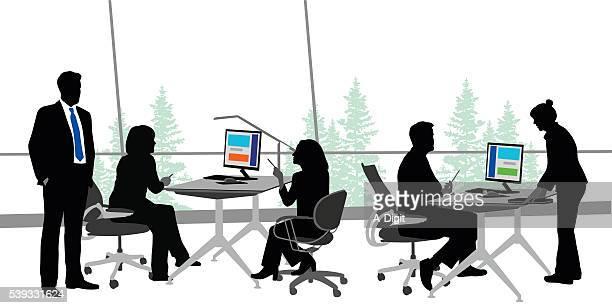 オープンオフィス色 - ビジネスウーマン点のイラスト素材/クリップアート素材/マンガ素材/アイコン素材