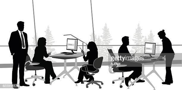 diskussion im büro - meeting stock-grafiken, -clipart, -cartoons und -symbole
