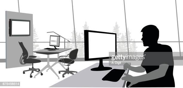 Open Office Worker