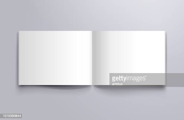 open page mockup - book stock illustrations