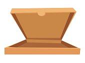 Open pizza box vector illustration