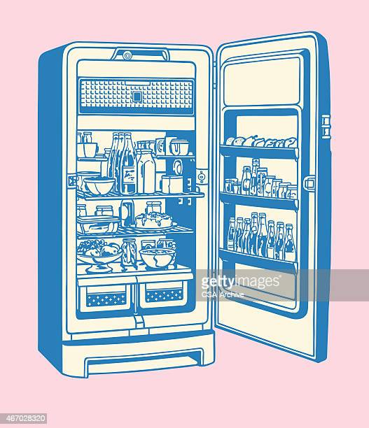 オープンの冷蔵庫 - 冷蔵庫点のイラスト素材/クリップアート素材/マンガ素材/アイコン素材
