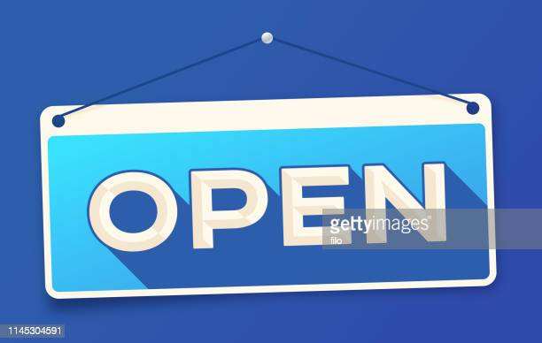 open sign - open sign stock illustrations