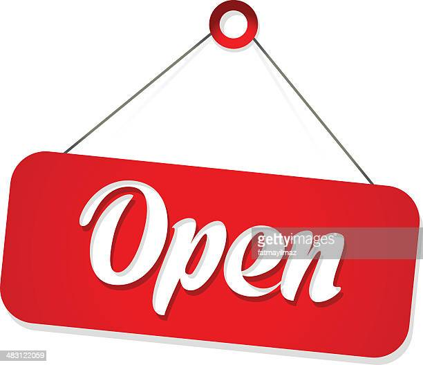 open sign - open sign stock illustrations, clip art, cartoons, & icons