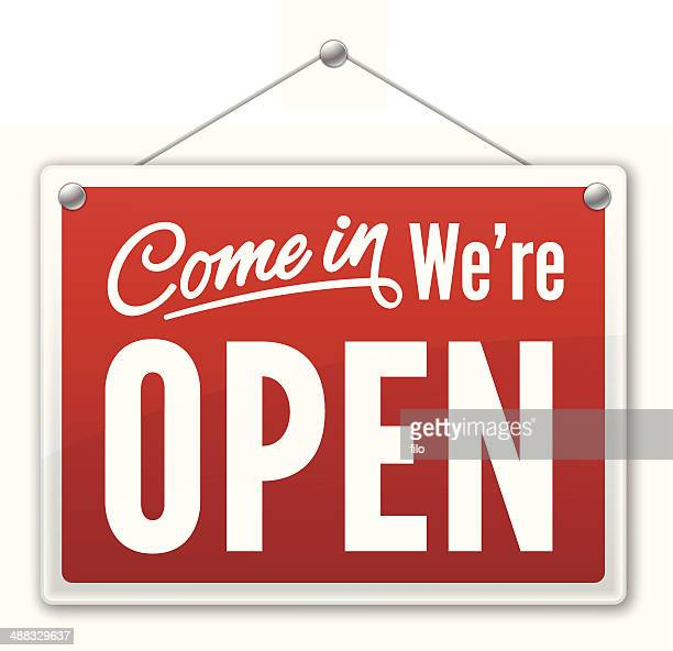 open sign - open stock illustrations