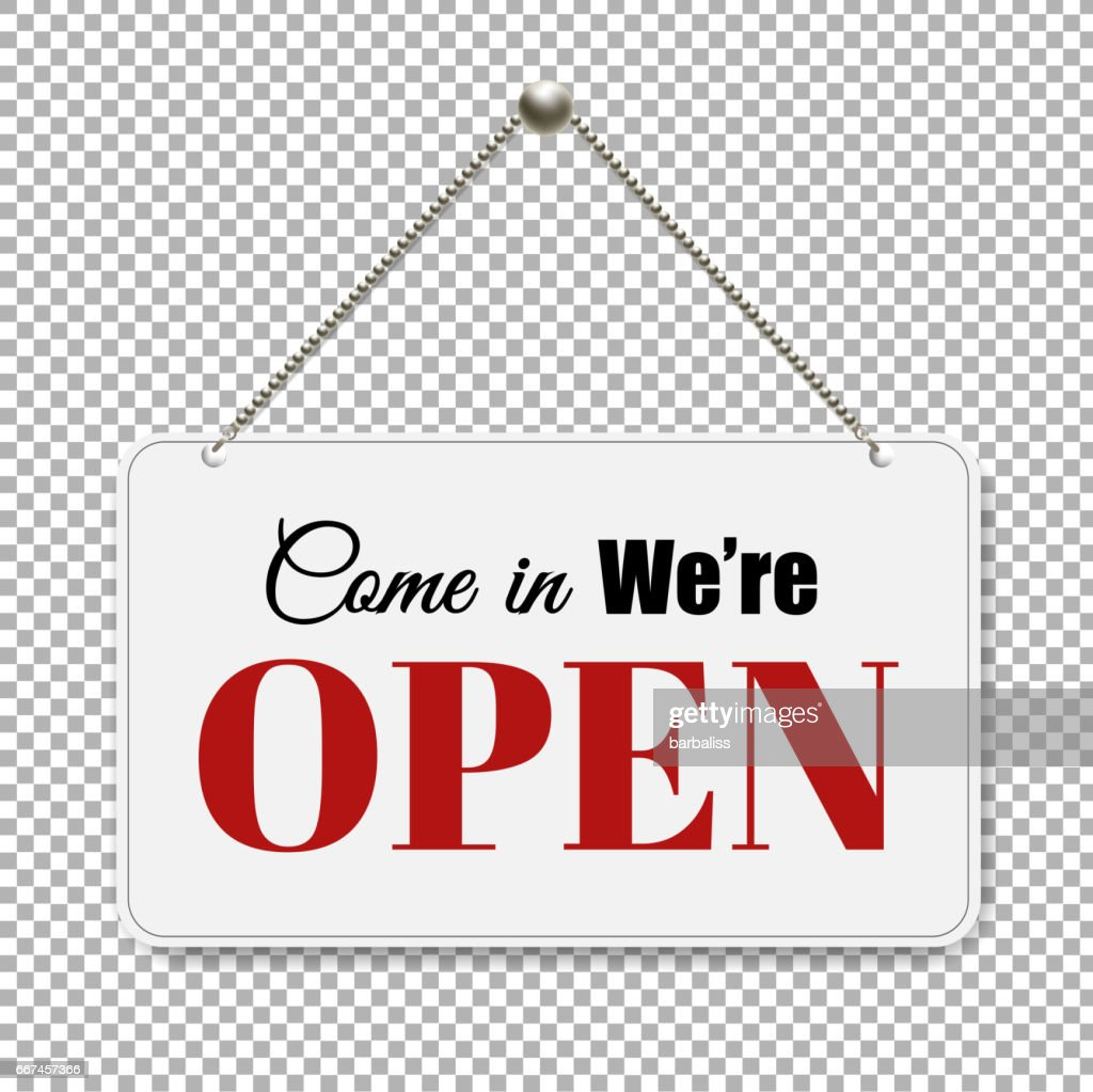 Open Sign With Transparent Background