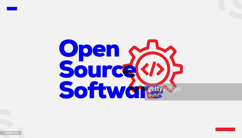 Open Source Software Concept Design : Stock Illustration