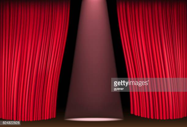 open stage curtain