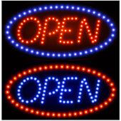 Open Tacky Neon Sign