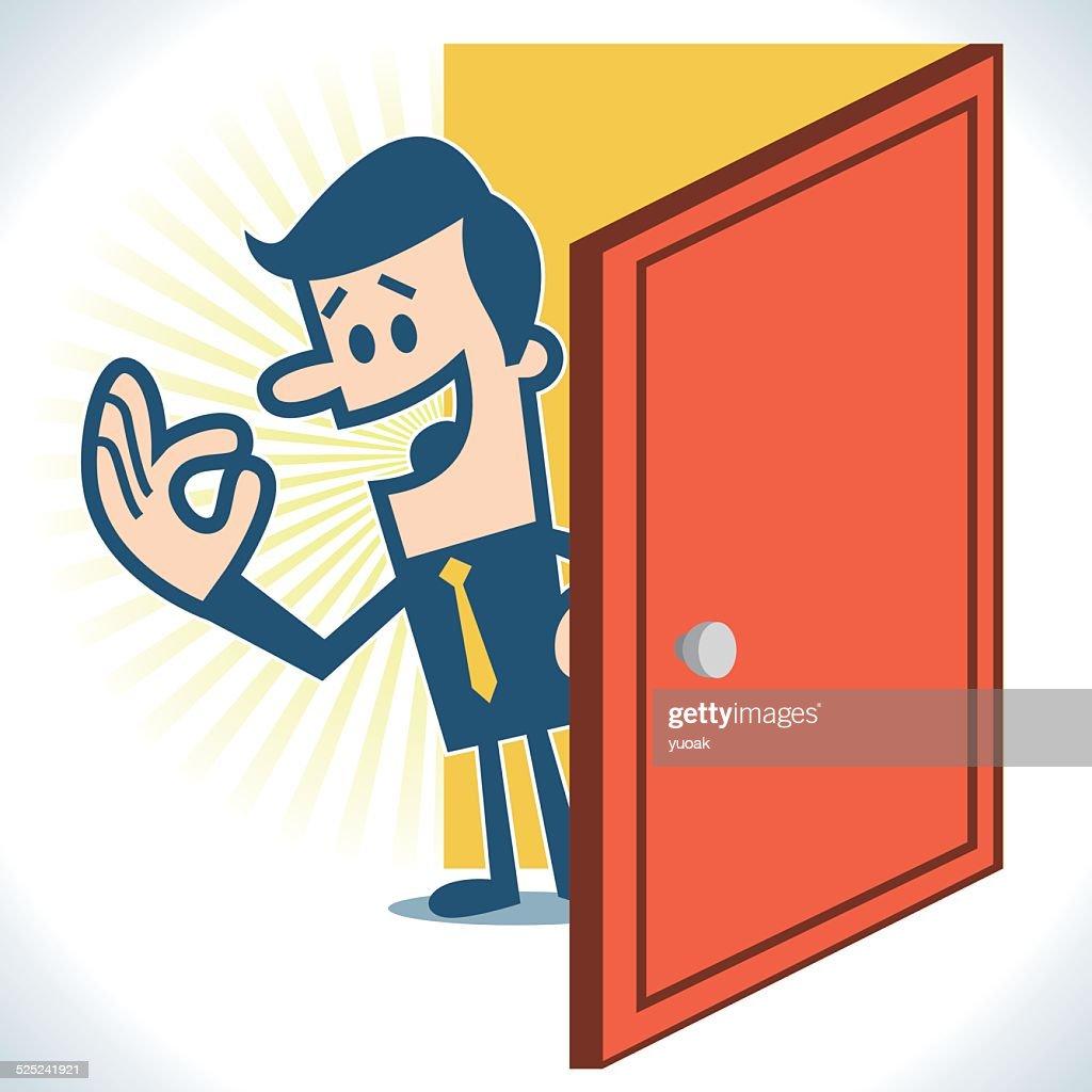 Open the door  sc 1 st  Getty Images & Person Opening Door Cartoon Stock Illustrations And Cartoons ... pezcame.com
