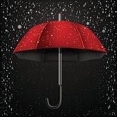 open umbrella snow and rain