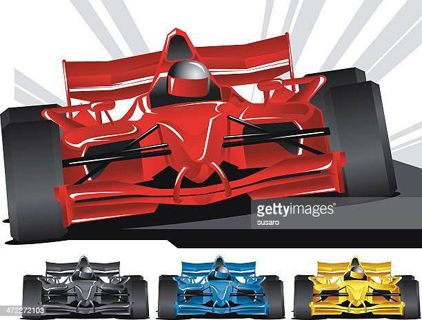 open wheel racing - race car stock illustrations, clip art, cartoons, & icons