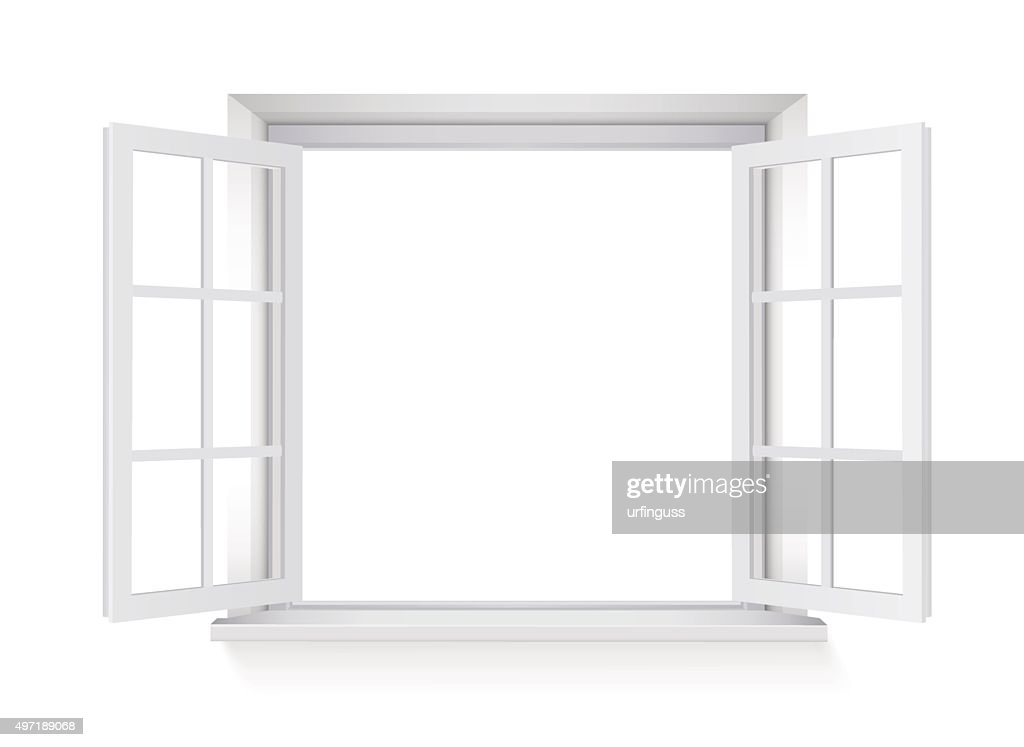 open window isolated on white background