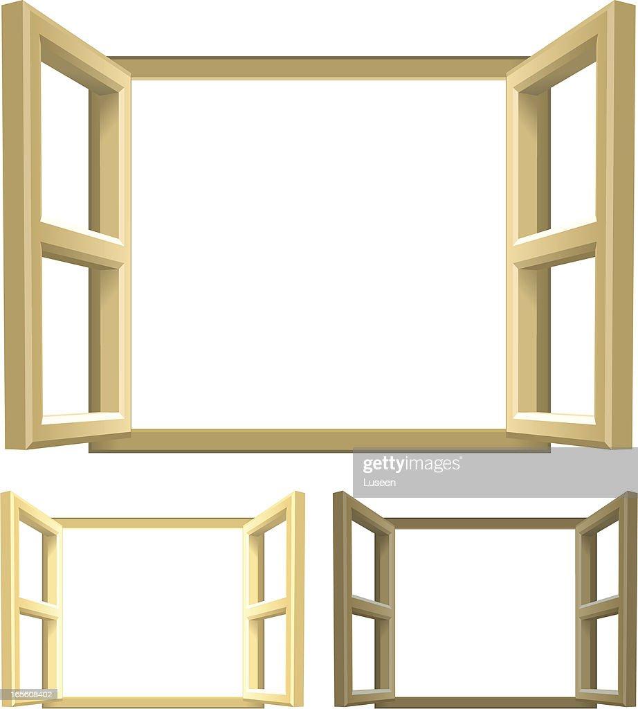 Open Wooden Windows