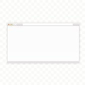 Opened 16x9 browser window template. Ready for your content