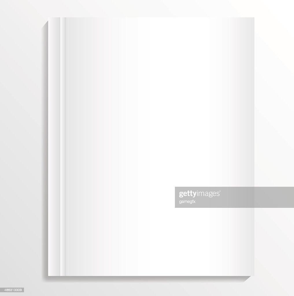 Opened blank album