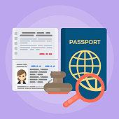 Opened female's passport.