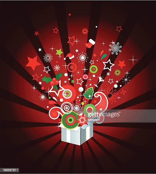 Opened gift - Christmas