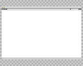 Opened template. Grey website display bar isolated. Navigation button forward