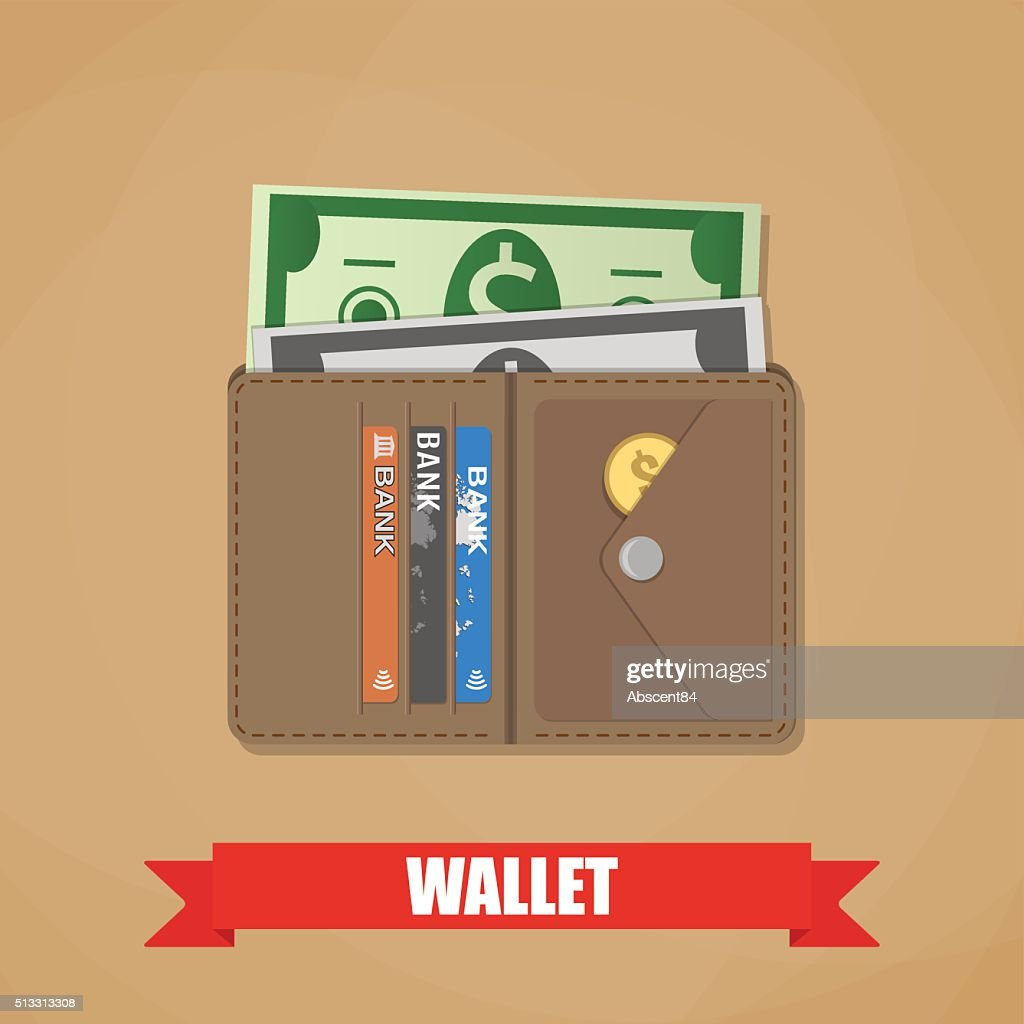 Opened wallet with cash