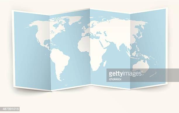 Eröffnete world Karte