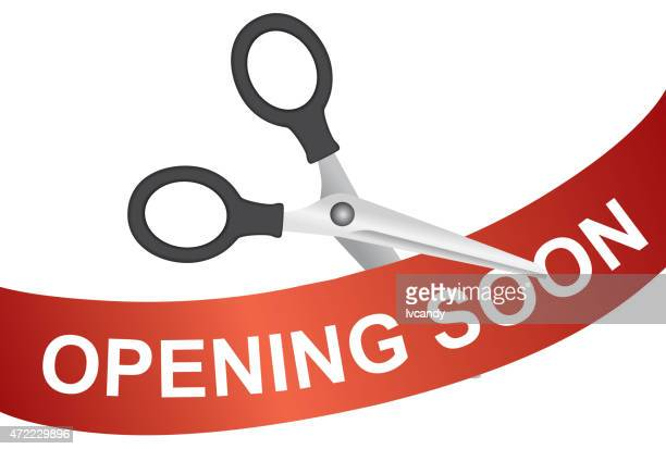 opening soon - opening event stock illustrations