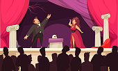opera theatre scene illustration