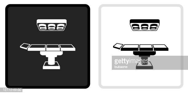 白いロールオーバーの黒いボタンの操作テーブルアイコン - 手術台点のイラスト素材/クリップアート素材/マンガ素材/アイコン素材