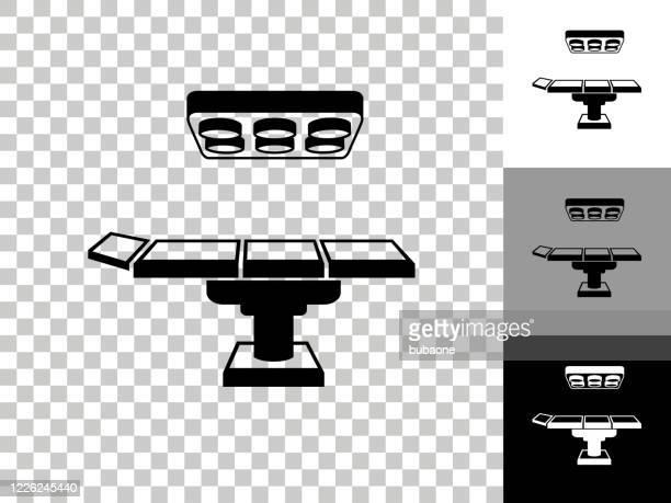 チェッカーボードの透明な背景のオペレーティング テーブル アイコン - 手術台点のイラスト素材/クリップアート素材/マンガ素材/アイコン素材