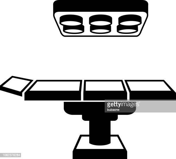 長い影をテーブルのアイコンを動作 - 手術台点のイラスト素材/クリップアート素材/マンガ素材/アイコン素材