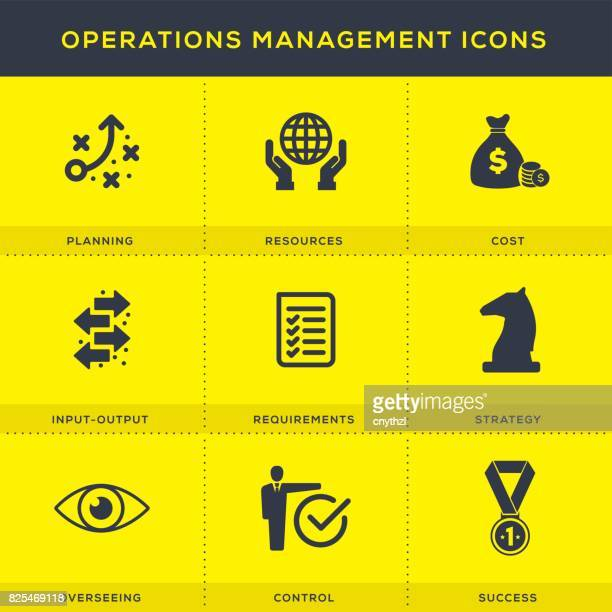 Operations Management Icon Set