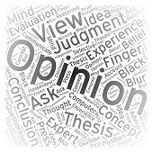 Opinion ,Word cloud art background
