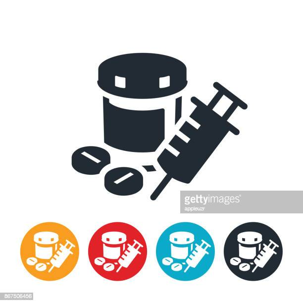 opioids icon - recreational drug stock illustrations, clip art, cartoons, & icons