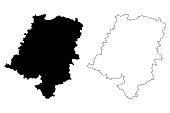 Opole Voivodeship map vector