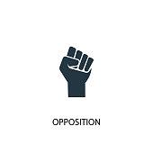 Opposition icon. Simple element illustration