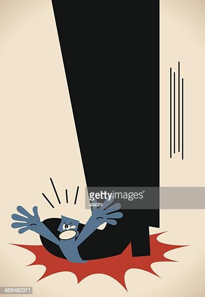 ilustrações, clipart, desenhos animados e ícones de a opressão - office politics