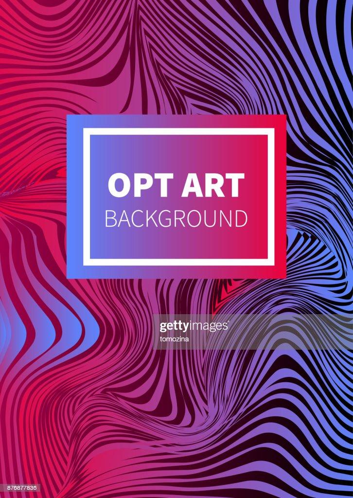 Opt art flyer