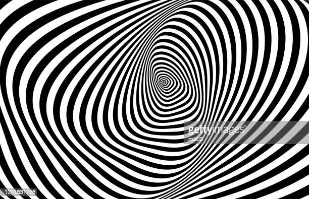 optical 3d illusion - spiral stock illustrations