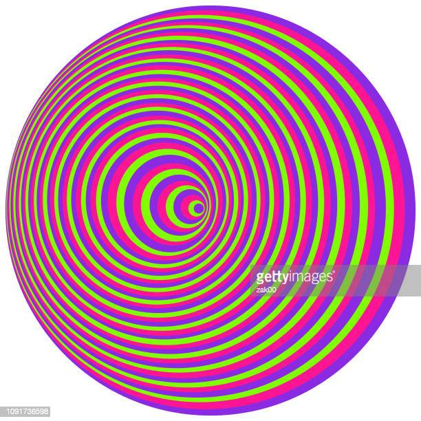 optical art. cover design template - hypnosis stock illustrations