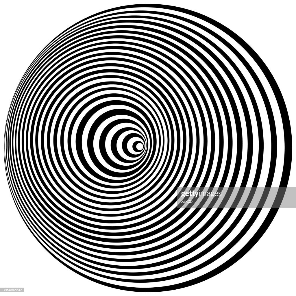 Optical Art. Cover design template : stock illustration