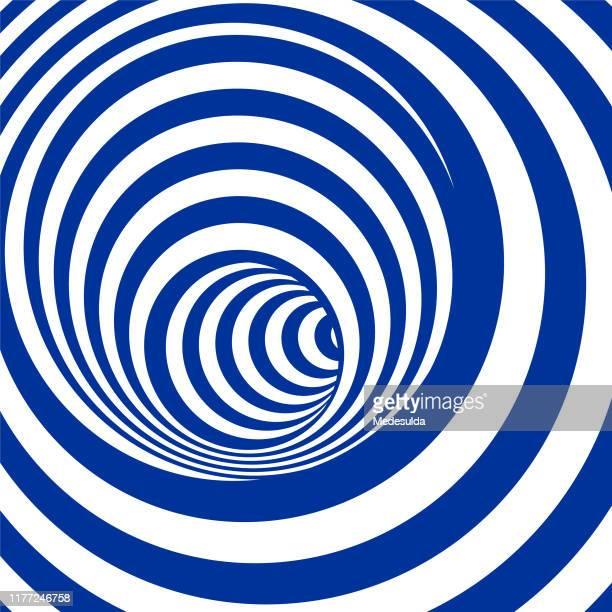 illustrazioni stock, clip art, cartoni animati e icone di tendenza di tunnel dell'illusione ottica - illusione