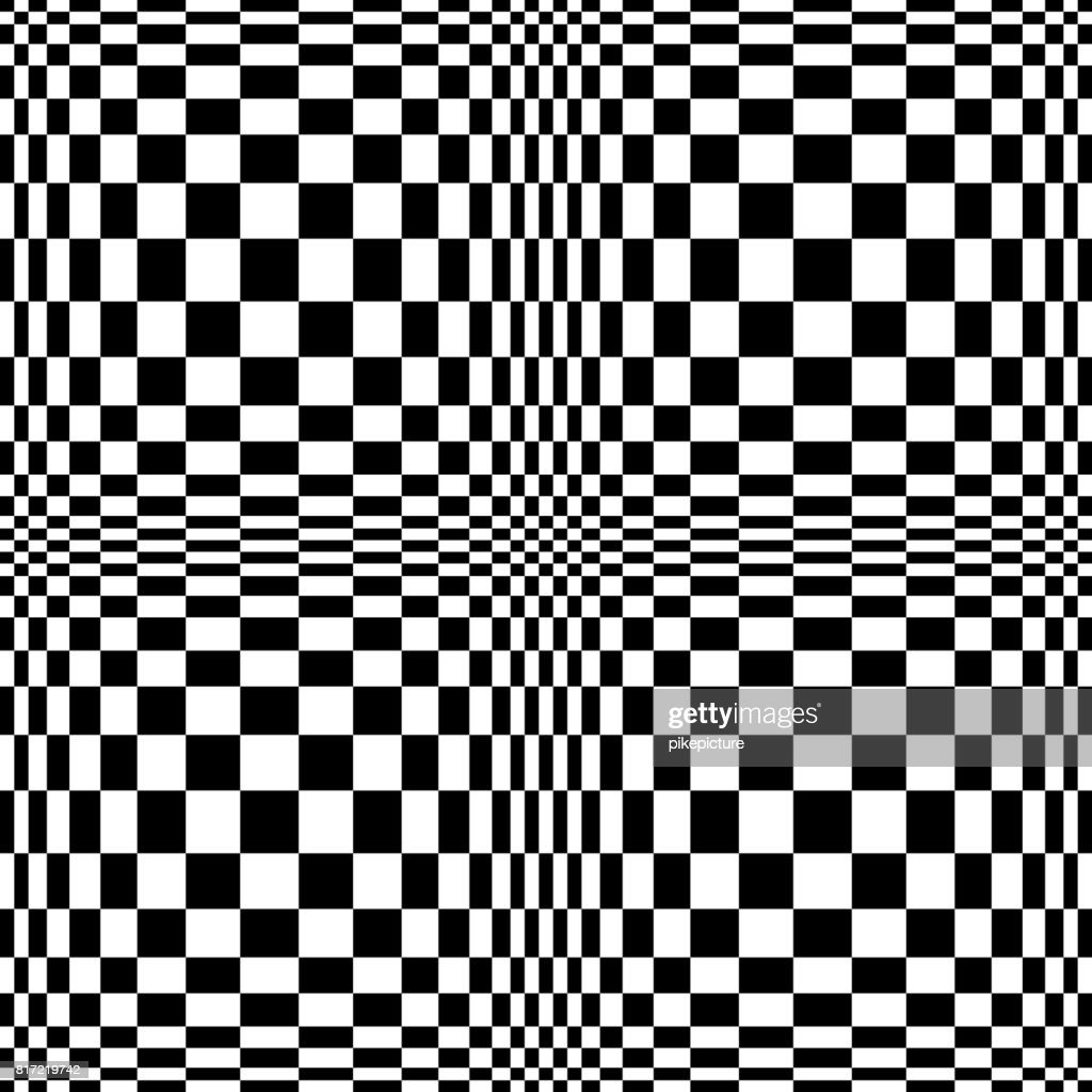 Optical Illusion. Vector 3d Art. Motion Dynamic Effect. Movement Executed In The Form. Geometric Magic Background